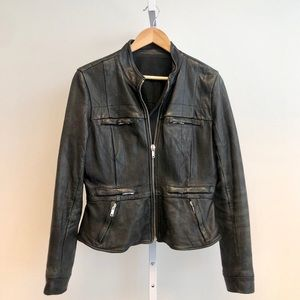 Rick Owens Distressed Leather Jacket IT44 Fits 6/8